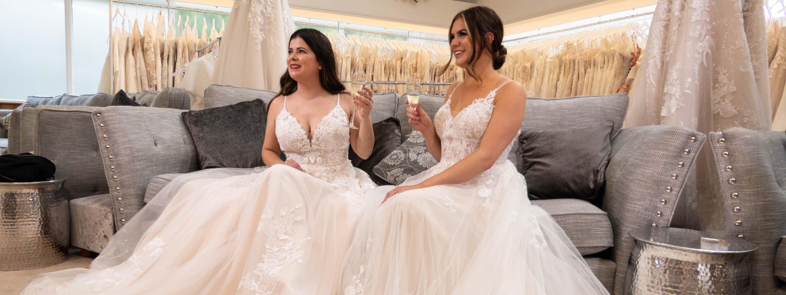 Wedding dress in Shropshire
